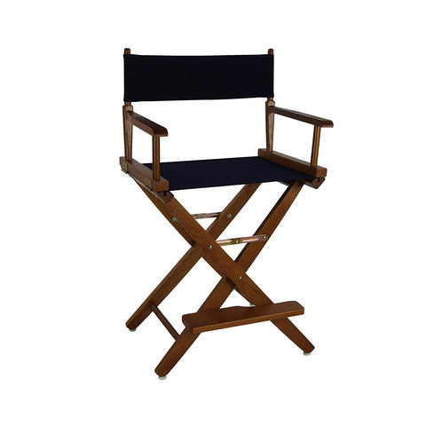 "American Trails Extra-Wide Premium 24"" Directors Chair Mission Oak Frame W/Navy Color Cover - 206-24/032-10-Chairs-HipBeds.com"
