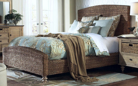 Chelsea Home Ardsley Queen Seagrass BED - 772020-50QN-Panel Beds-HipBeds.com