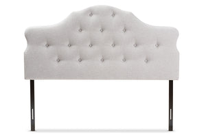 Baxton Studio Dacia Modern and Contemporary Greyish Beige Fabric Queen Size Headboard-Headboards & Footboards-HipBeds.com