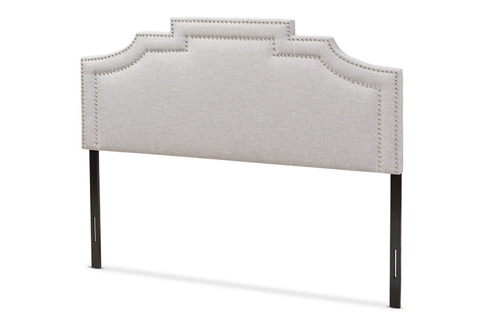 Baxton Studio Deena Modern and Contemporary Greyish Beige Fabric Full Size Headboard