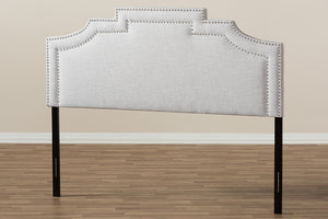 Baxton Studio Deena Modern and Contemporary Greyish Beige Fabric Queen Size Headboard-Headboards & Footboards-HipBeds.com