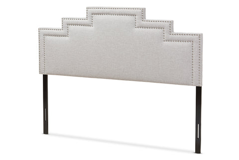 Baxton Studio Sophia Modern and Contemporary Greyish Beige Fabric King Size Headboard-Headboards & Footboards-HipBeds.com