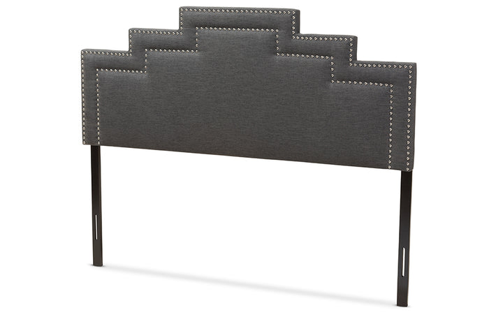 Baxton Studio Sophia Modern and Contemporary Dark Grey Fabric Queen Size Headboard