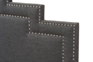 Baxton Studio Sophia Modern and Contemporary Dark Grey Fabric Queen Size Headboard-Headboards & Footboards-HipBeds.com