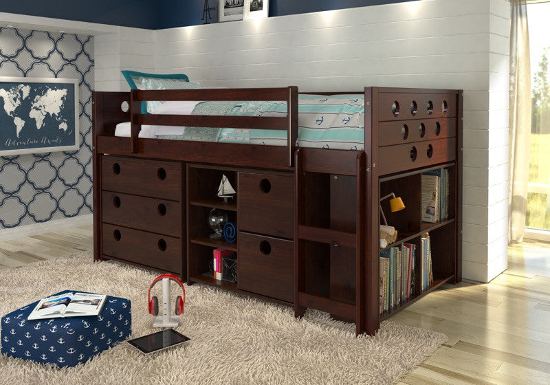 Lowest Price Donco Kids Circles Low Study Loft Bed 780 Cp