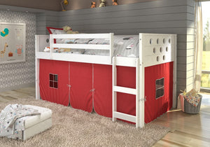 Donco Kids Twin Circles Low Loft Bed 780A-TW-Loft Beds-HipBeds.com
