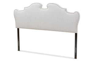 Baxton Studio Dalton Modern and Contemporary Greyish Beige Fabric King Size Headboard-Headboards & Footboards-HipBeds.com