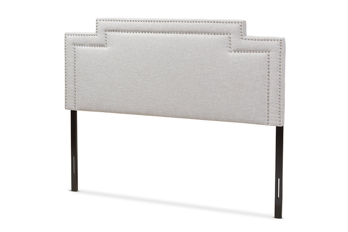 Baxton Studio Casey Modern and Contemporary Greyish Beige Fabric Full Size Headboard
