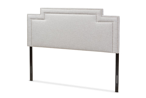 Baxton Studio Casey Modern and Contemporary Greyish Beige Fabric Queen Size Headboard-Headboards & Footboards-HipBeds.com