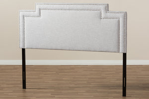 Baxton Studio Casey Modern and Contemporary Greyish Beige Fabric Full Size Headboard-Headboards & Footboards-HipBeds.com