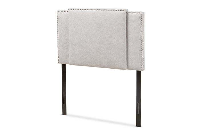 Baxton Studio Ibbie Modern and Contemporary Greyish Beige Fabric Twin and Full Size Expandable Headboard