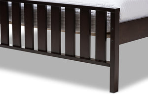 Baxton Studio Harlan Modern Classic Mission Style Dark Brown-Finished Wood Twin Platform Bed Image 7