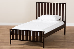 Baxton Studio Harlan Modern Classic Mission Style Dark Brown-Finished Wood Twin Platform Bed Image 9