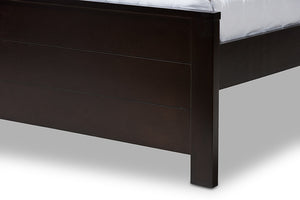 Baxton Studio Catalina Modern Classic Mission Style Dark Brown-Finished Wood Full Platform Bed-Platform Beds-HipBeds.com