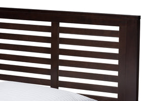 Baxton Studio Sedona Modern Classic Mission Style Dark Brown-Finished Wood Twin Platform Bed Image 6