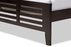 Baxton Studio Sedona Modern Classic Mission Style Dark Brown-Finished Wood Twin Platform Bed Image 7