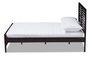 Baxton Studio Sedona Modern Classic Mission Style Espresso Brown-Finished Wood Full Platform Bed Image 6