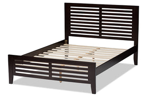 Baxton Studio Sedona Modern Classic Mission Style Espresso Brown-Finished Wood Full Platform Bed Image 7