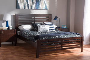 Baxton Studio Sedona Modern Classic Mission Style Espresso Brown-Finished Wood Full Platform Bed Image 4