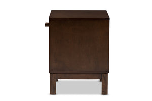 Baxton Studio Deirdre Modern and Contemporary Brown Wood 1-Drawer Nightstand Image 6