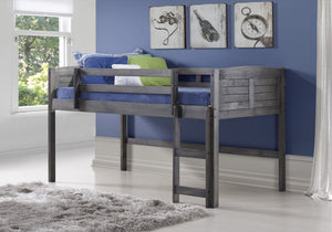 Donco Kids Twin Louver Low Loft Bed Grey 790A-AG-Loft Beds-HipBeds.com