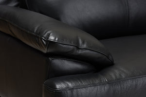 Baxton Studio Rabbie Modern and Contemporary Black Leather Right Facing Chaise 2-Piece Sectional Sofa Image 5