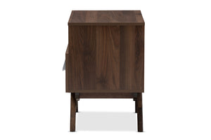 Baxton Studio Ashfield Mid-Century Modern Walnut Brown Finished Wood Nightstand Image 6