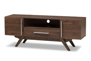 Baxton Studio Ashfield Mid-Century Modern Walnut Brown Finished Wood TV Stand Image 3