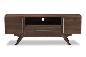 Baxton Studio Ashfield Mid-Century Modern Walnut Brown Finished Wood TV Stand Image 5