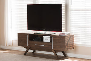 Baxton Studio Ashfield Mid-Century Modern Walnut Brown Finished Wood TV Stand Image 10