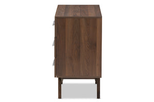 Baxton Studio Auburn Mid-Century Modern Walnut Brown Finished Wood 6-Drawer Dresser Image 6