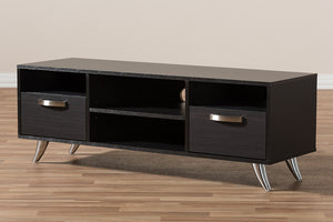 Baxton Studio Warwick Modern and Contemporary Espresso Brown Finished Wood TV Stand Image 12