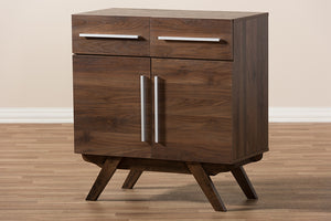 Baxton Studio Ashfield Mid-Century Modern Walnut Brown Finished Wood Sideboard Image 12