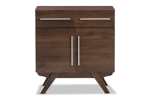Baxton Studio Ashfield Mid-Century Modern Walnut Brown Finished Wood Sideboard Image 5