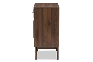 Baxton Studio Ashfield Mid-Century Modern Walnut Brown Finished Wood Sideboard Image 6