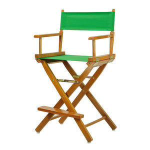 "Casual Home 24"" Director's Chair Honey Oak Frame-Green Canvas - 220-05/021-33-Chairs-HipBeds.com"