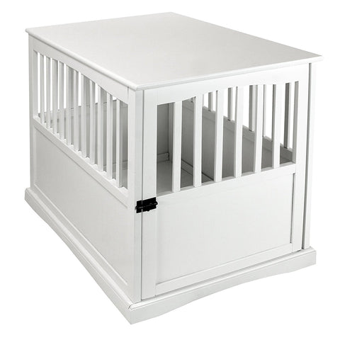 Casual Home Pet Crate End Table-White - 600-21-Tables-HipBeds.com