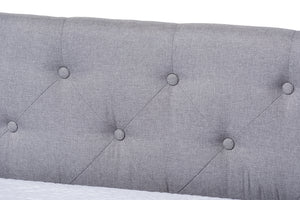 Baxton Studio Cherine Classic and Contemporary Grey Fabric Upholstered Daybed with Trundle Image 11