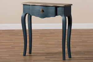 Baxton Studio Mazarine Classic and Provincial Blue Spruce Finished Console Table Image 14