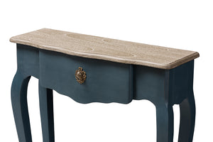 Baxton Studio Mazarine Classic and Provincial Blue Spruce Finished Console Table Image 10