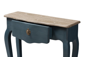 Baxton Studio Mazarine Classic and Provincial Blue Spruce Finished Console Table Image 11