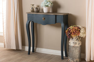 Baxton Studio Mazarine Classic and Provincial Blue Spruce Finished Console Table Image 4