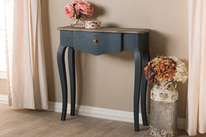 Baxton Studio Mazarine Classic and Provincial Blue Spruce Finished Console Table Image 13
