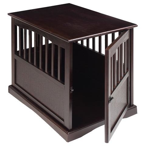 Casual Home Pet Crate End Table-Espresso - 600-44-Tables-HipBeds.com