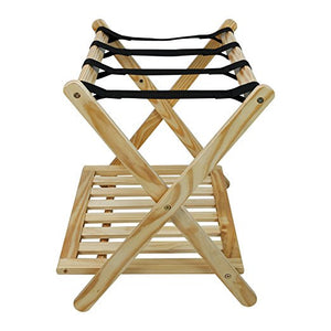 "Casual Home Heavy Duty 30"" Extra Wide Luggage Rack-Espresso - 102-14-Luggage Rack-HipBeds.com"