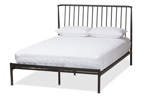 Baxton Studio Sabine Modern and Contemporary Black Finished Metal Full Size Platform Bed Image 3