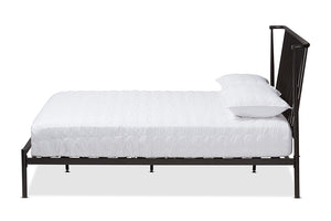 Baxton Studio Sabine Modern and Contemporary Black Finished Metal Full Size Platform Bed Image 4
