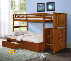 Donco Kids Full Extension Bed Light Espresso 800E-E-Bunk Beds-HipBeds.com