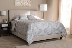 Baxton Studio Audrey Modern and Contemporary Light Beige Fabric Upholstered King Size Bed-Beds-HipBeds.com