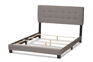 Baxton Studio Audrey Modern and Contemporary Light Grey Fabric Upholstered Full Size Bed-Beds-HipBeds.com